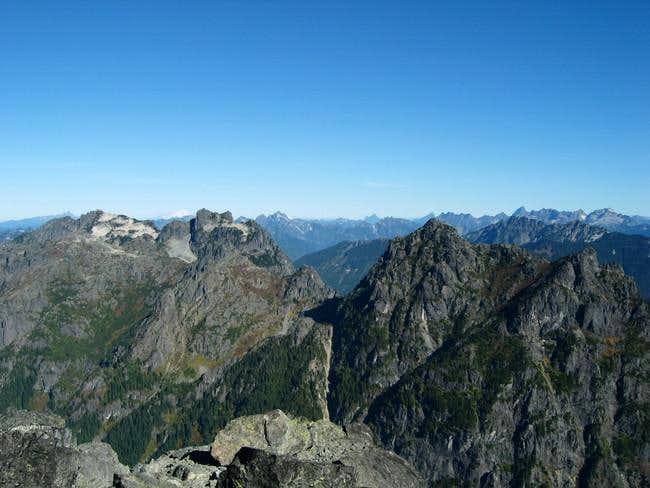 Gunn Peak (left) and Merchant...