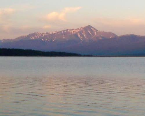 View of Mt. Elbert from a...