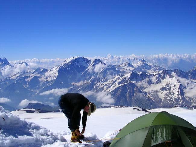 Camp just below Pastuhova...