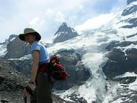 Hanging Glacier on trail from...
