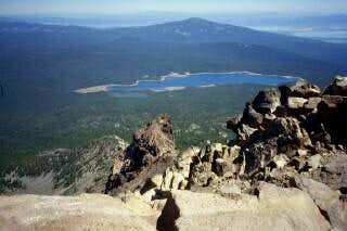 Pelican Butte from the summit...