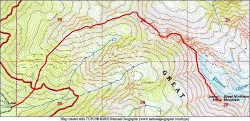 Standard/Northwest Ridge...