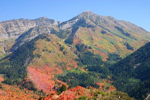 Closer view of Provo Peak...
