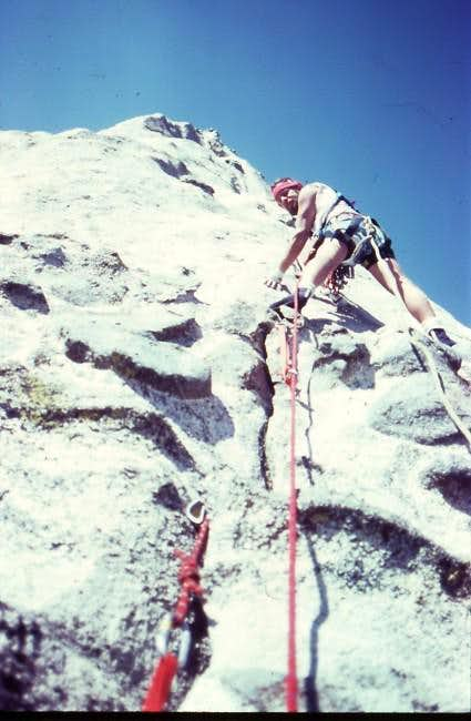 Climbing on Premiere Buttress...