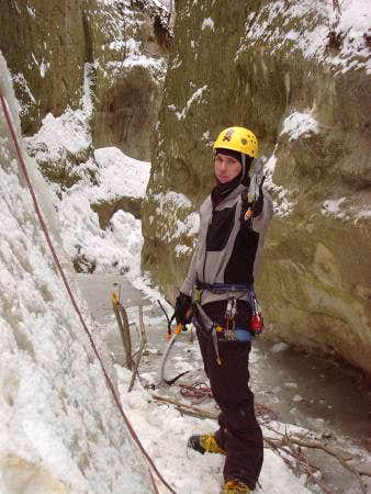 the belay (me) on...