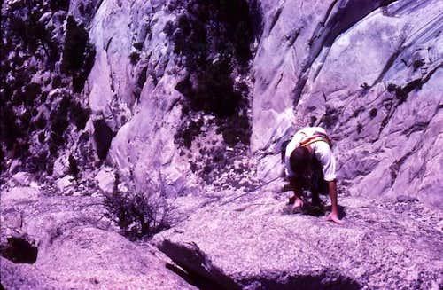 Climbing on El Segundo...