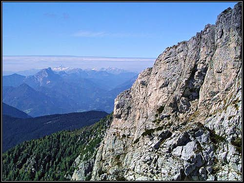 From the south face ferrata