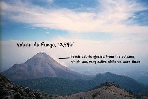 The Volcan de Fuego was...