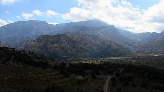On left the Lazaros peak, on...