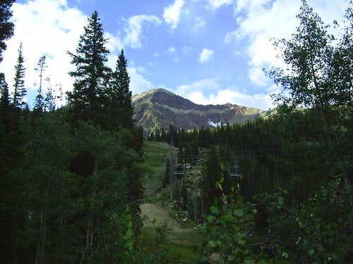 View of the peak from lower...