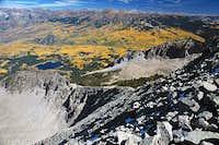 Looking down the North Ridge...