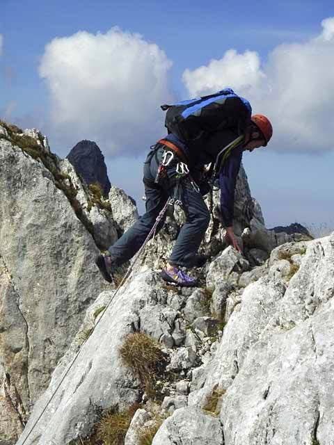 Pulling onto the summit at...