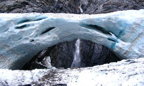 The Ice Caves at the base of...