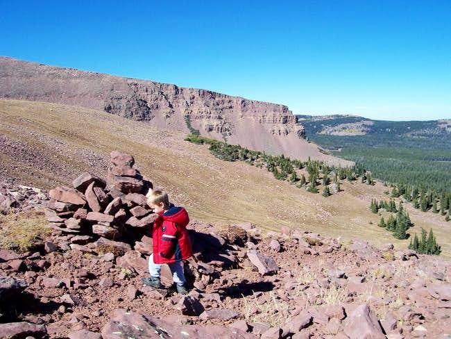 Climbing Marsh Peak's south...