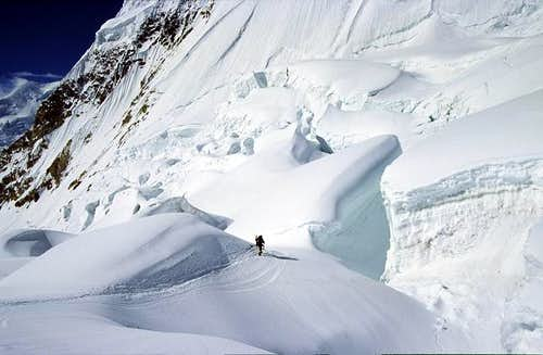 A climber is making his way...