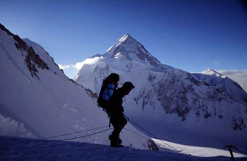 A cold morning at 6700m on...