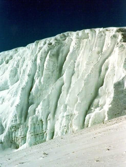Impressing ice-walls on the...
