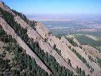 Flatirons as seen from the...