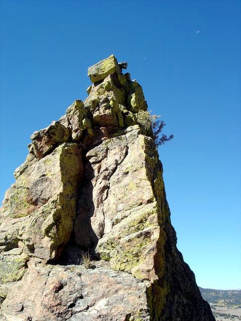 This cool rock pinnacle is to...