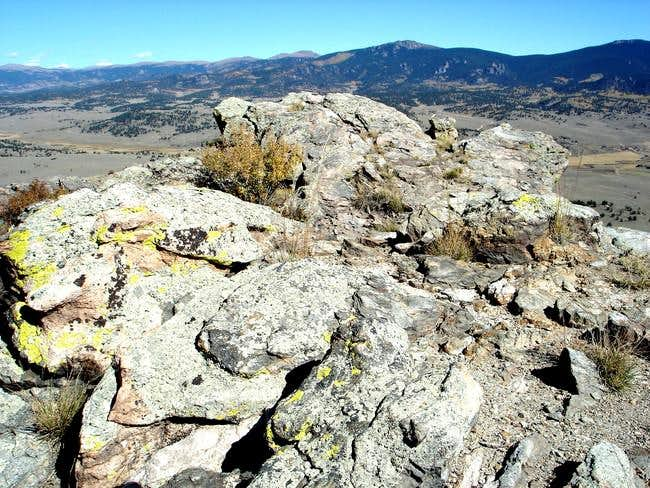 The small summit area with...