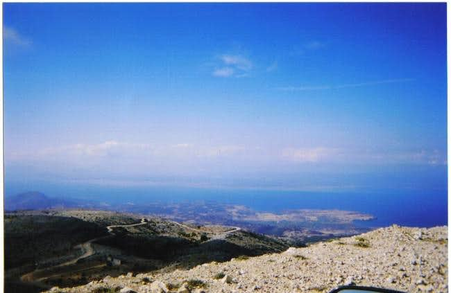 From the top of Perganti,...