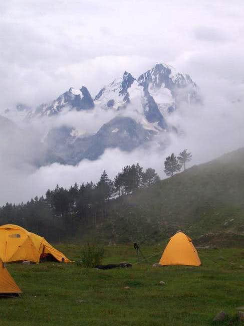 Camp 1 in the Irikchat Valley...