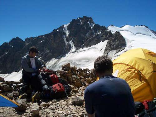 Camp 3 at Irikchat Pass, to...