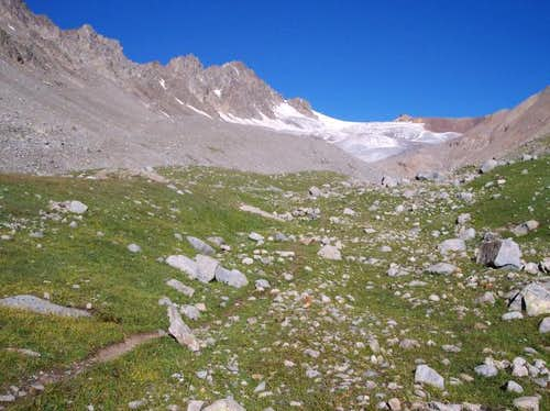 Above camp 2 on the way to...