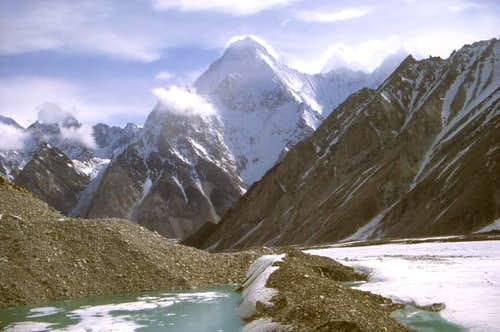 Gasherbrum IV from camp on...
