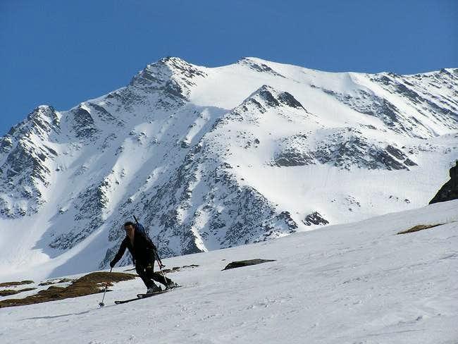 My girlfriend Dina skiing in...