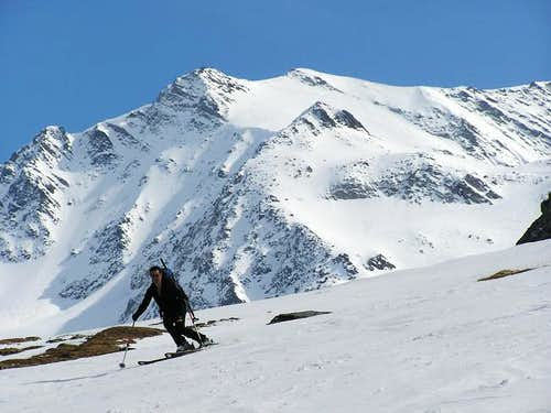 My girlfriend Dina skiing in...