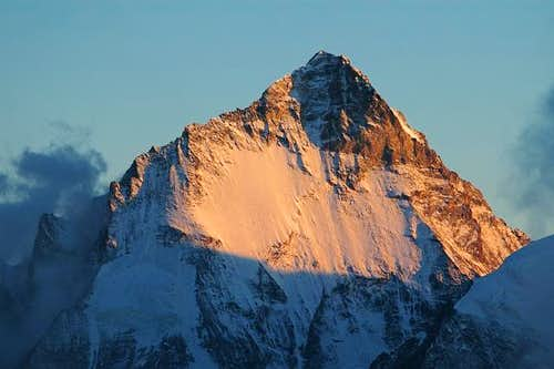 Dent blanche at sunset. North...