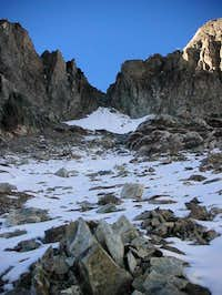View of the couloir that...