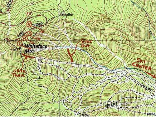 USGS topo map showing the...