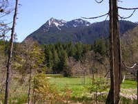 This is a view of Eagle Peak...