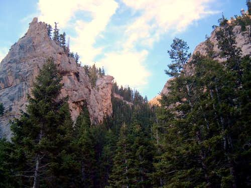 A view of North Canyon on the...