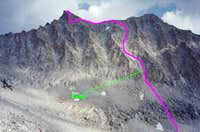 Northwest Face route of...