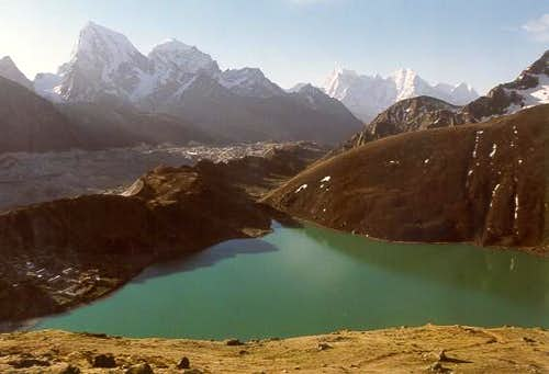 View of Gokyo lake while...