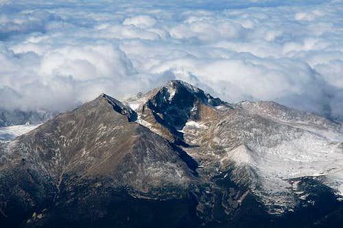 Aerial view of Longs as seen...