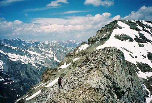 Northwest Ridge Route (standard snow rou