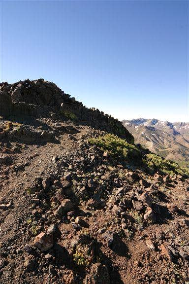 The summit with Leavitt Peak...