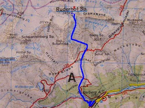 Ski tour to Ruderhofspitze...