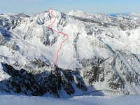 Ski tour from Stubai valley