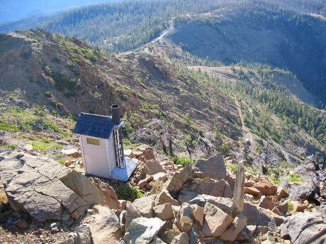 The Pearsoll Lookout outhouse...