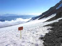 View from Camp Muir over Muir...