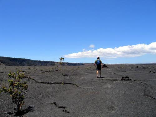 Walking across the Kilauea...