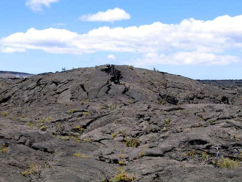 Raised earth and lava from an...