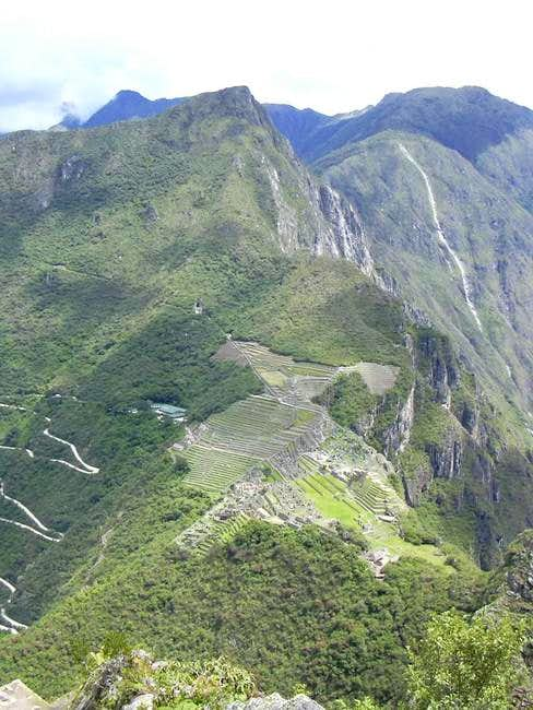 View of Cerro Machu Picchu...
