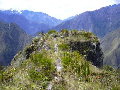 Ridge leading to the summit