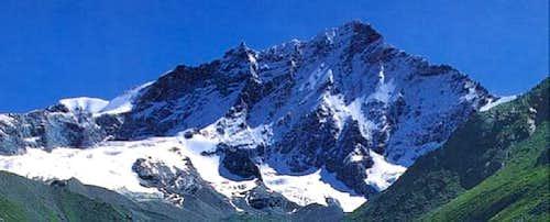 Weisshorn westface seen from...
